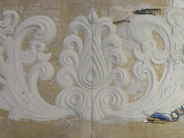Soffitto Decorato Gesso: Rosonei in gesso decorato a mano diam cm de r erni aly.