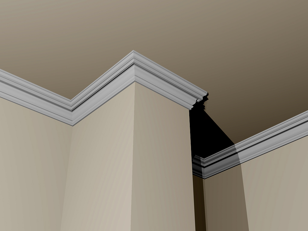 022436-Cornice in gesso - Plasterego - your creative pARTner